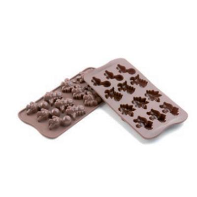 Csokoládé forma dino 40x33x16 mm