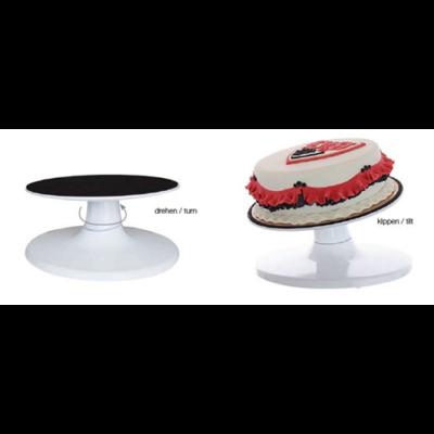 Tortaállvány forgatható, dönthető, átm: 30cm, magas: 16cm
