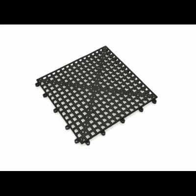 Pohárcsepegtető 30x30cm, fekete PVC