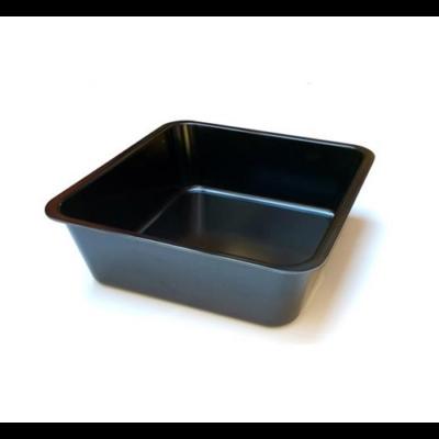 Tálca 25x25x4 cm, melamin, fekete