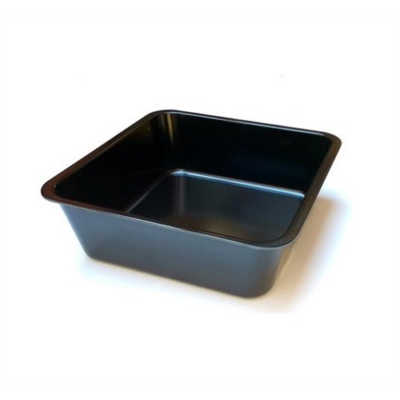 Tálca 35x25x4 cm, melamin, fekete