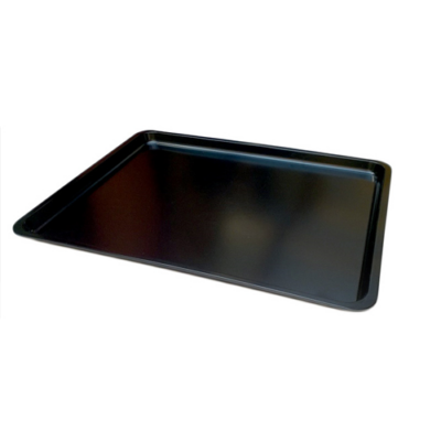 Tálca 41x32x2 cm, melamin, fekete