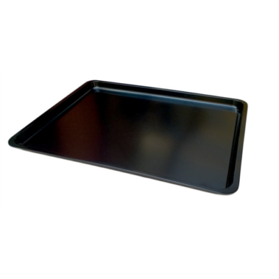 Tálca 44x33x2 cm, melamin, fekete